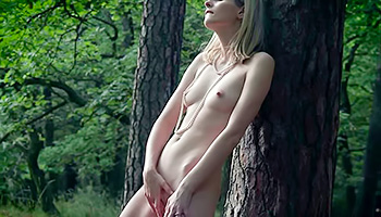 Outdoor squirting scene features a naughty babe, who does it in the middle of nowhere. Watch her tease that shaved pussy and piss on the green grass.